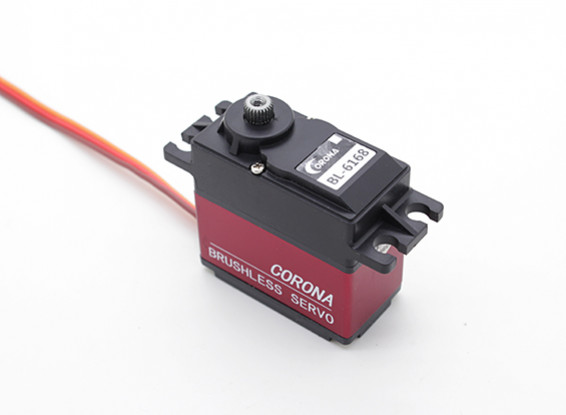 Corona BL-6168 sin escobillas de metal Digital Gear Servo 25kg / 0.18sec / 63.8g