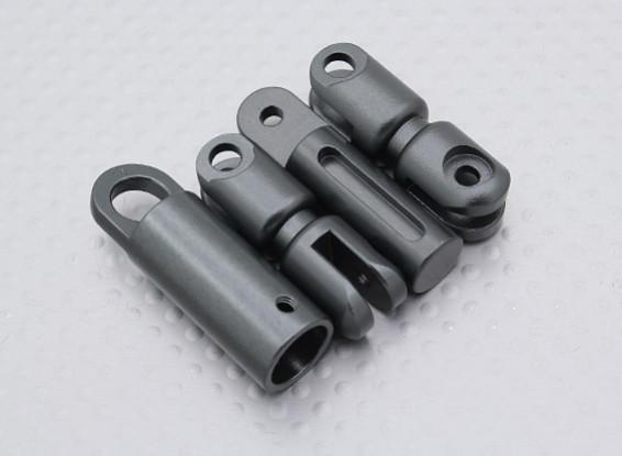 Transmisor de la correa del cuello adaptador (gris oscuro Negro)