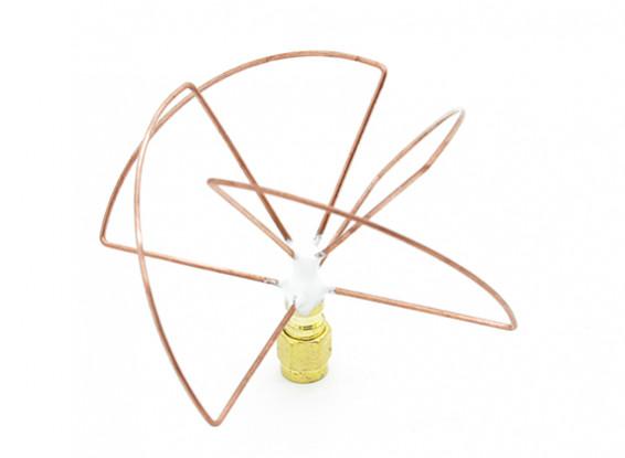 2,4 GHz circular polarizado antena SMA Receptor solamente (corto)
