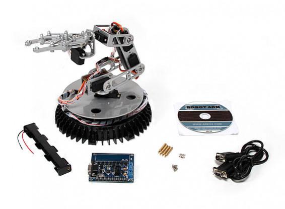 365 mm Brazo robótico w / placa de control y conexión a PC