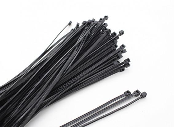 De uniones de cable 160 x 2,5 mm Negro (100pcs)