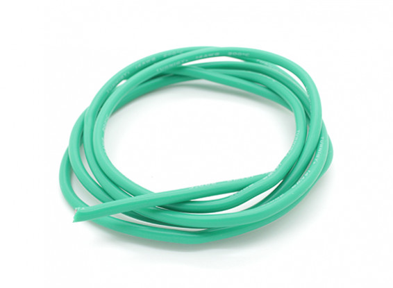 Turnigy Pure-silicona 1m cable 14 AWG (verde)