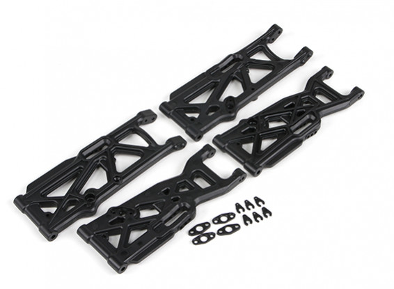 Delantero / trasero susp.arms inferiores set - Basher SaberTooth 1/8 Escala Truggy (4pcs)