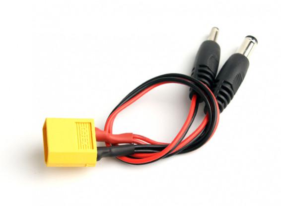 XT60 macho a 2 DC Jack conectores de enchufe (1 unidad)