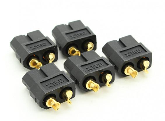 Conectores negros femeninos XT60 (5pcs)