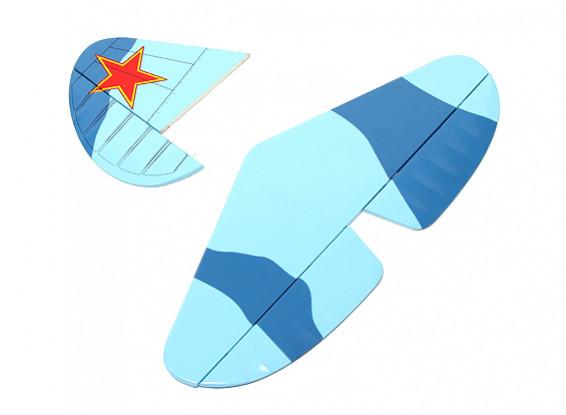 Yak-9 GP / EP - Inserción de cola