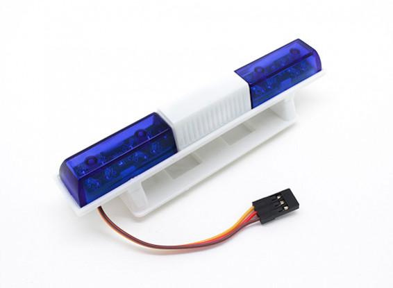 Sistema de iluminación LED de la policía del coche Estilo Squared (azul)