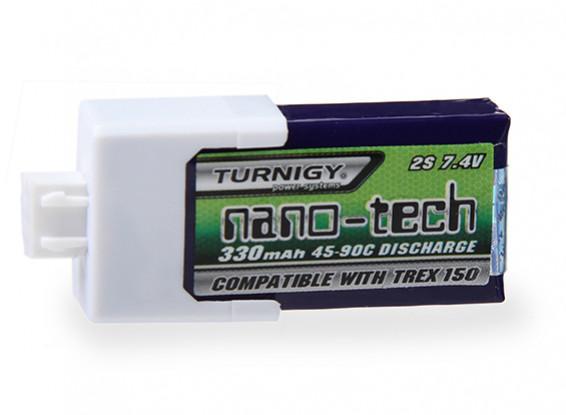 Turnigy nano-tech 330mAh 2S 45 ~ 90C Lipo Pack para Align T-Rex 150 DFC