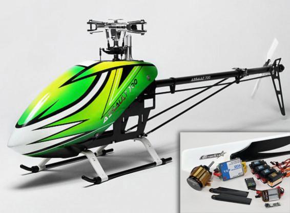 Helicóptero de asalto 700 DFC eléctrico Flybarless 3D - HV Super Combo