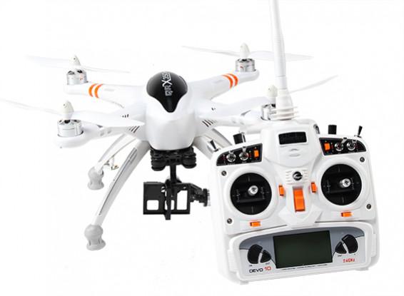 Walkera QR X350 PRO GPS FPV RC Quadcopter con G-2D cardán y DEVO 10 (Modo 1) (listo para volar)