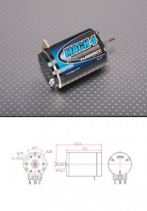 Turnigy Mach2 13.5T sin escobillas R / C coche de motor w / tiempo ajustar 2550Kv