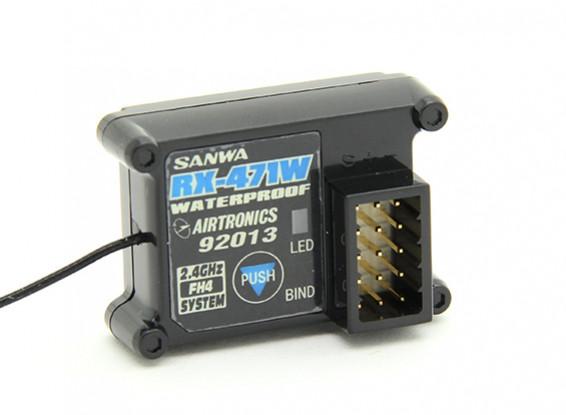 Receptor impermeable Sanwa / Airtronics RX-471W 2,4 GHz de 4 canales de Super Respuesta