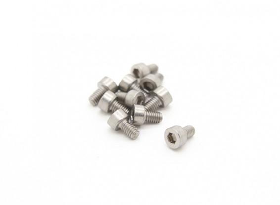 Titanio M2.5 x 4 Sockethead tornillo hexagonal (10pcs / bag)