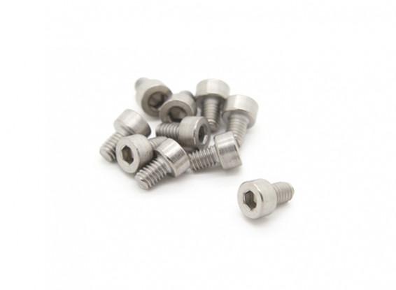 Titanio M4 x 6 Sockethead tornillo hexagonal (10pcs / bag)