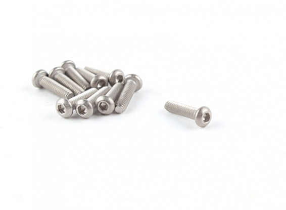 Titanio M2 x 8 Bottonhead tornillo hexagonal (10pcs / bag)