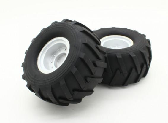 Conjunto de neumáticos (L & R) (1 Set) - Basher 1/16 Mini Nitro Circus MT