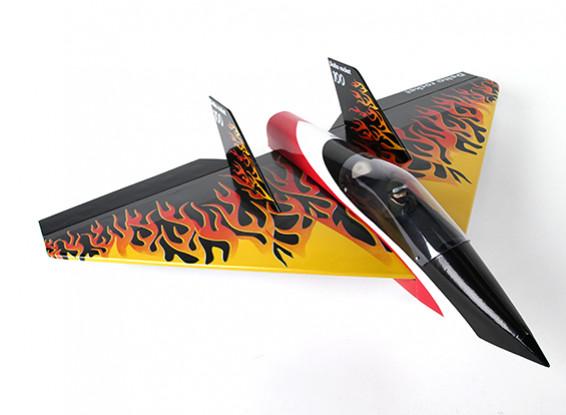 Delta Rocket alta velocidad Ala - 640 mm Negro (ARF)