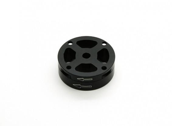 CNC de aluminio M10 de liberación rápida auto-apriete Prop Conjunto adaptador - Negro (en sentido horario)