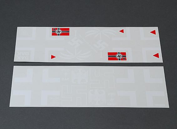 Afrika Korps auto-adhesivo del sistema de la etiqueta