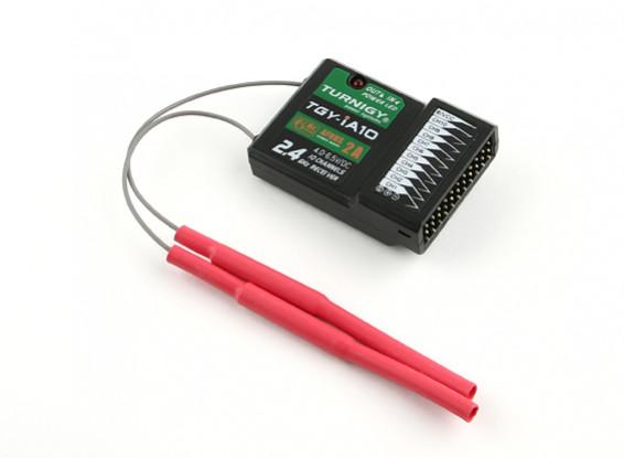 El receptor de telemetría 2A AFHDS Receptor Turnigy IA10 10CH 2.4G