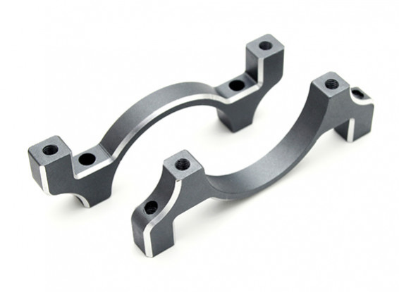 Color titanio anodizado CNC de aluminio tubo de sujeción 30 mm Diámetro