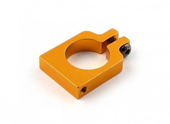 El oro anodizado a una cara CNC de aluminio tubo de sujeción 16 mm Diámetro