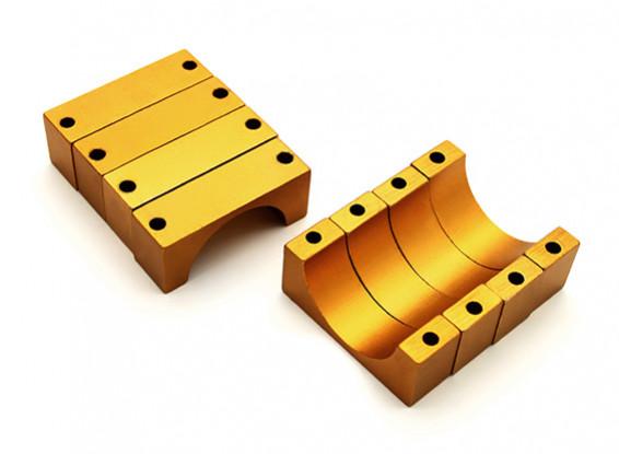 El oro anodizado CNC tubo de aluminio de 10 mm Diámetro de la abrazadera 20mm