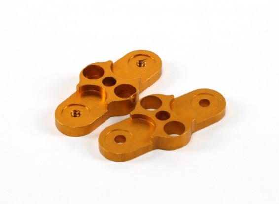 CNC 2 hojas plegables adaptador de hélice 1-Par 28-12 (Oro)