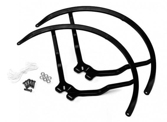 8 pulgadas de plástico universal multi-rotor hélice Guardia - Negro (2set)