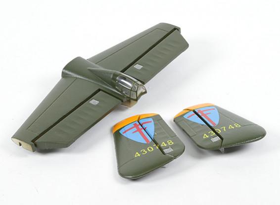 HobbyKing B-25 1250mm - Sustitución Ala principal sistema de la cola