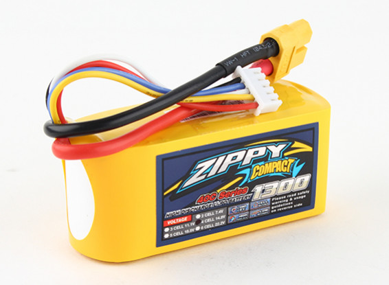 ZIPPY Compacto 1300mAh paquete 4s 40c Lipo