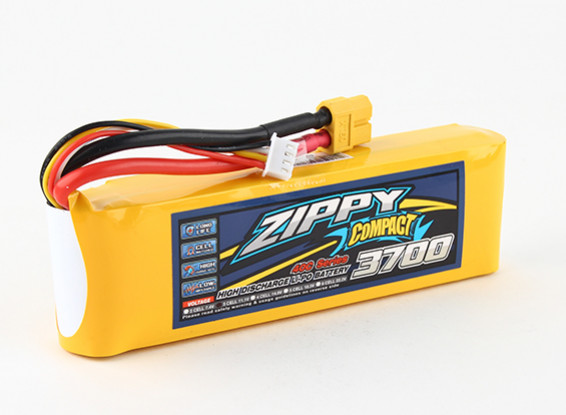 ZIPPY Compacto 3700mAh 3S 40C Lipo Pack de