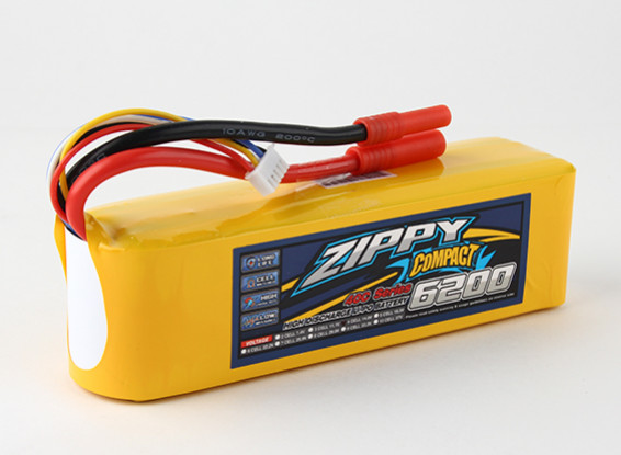 ZIPPY Compacto 6200mAh paquete 4s 40c Lipo