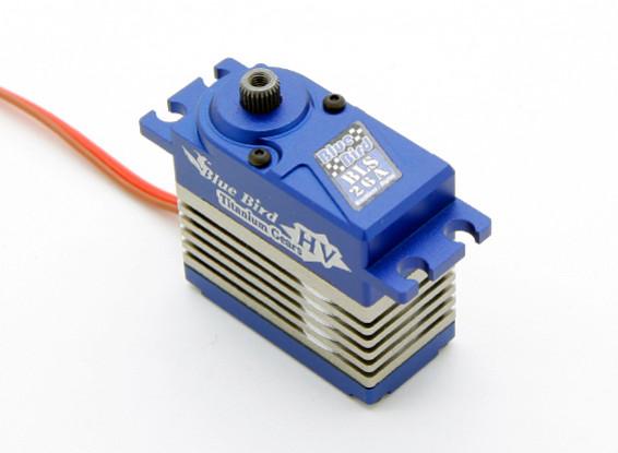 BLS-26A de alto voltaje (7.4V) sin escobillas servo digital w / aleación de titanio engranaje 26.5kg / .09sec / 74g