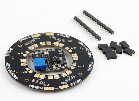 Universal 12 posiciones Hub 120A Multirotor de distribución de energía W / LED dual y las BEC