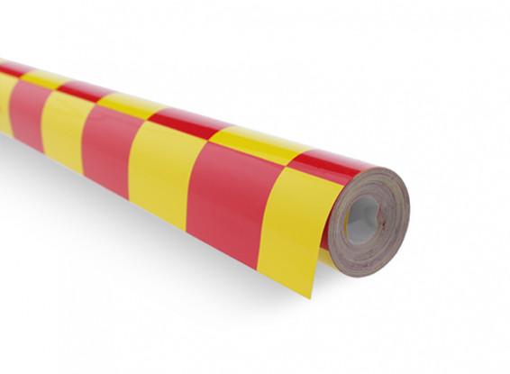 Cubriendo Film-Grill trabajo rojo / amarillo (5mtr) 403