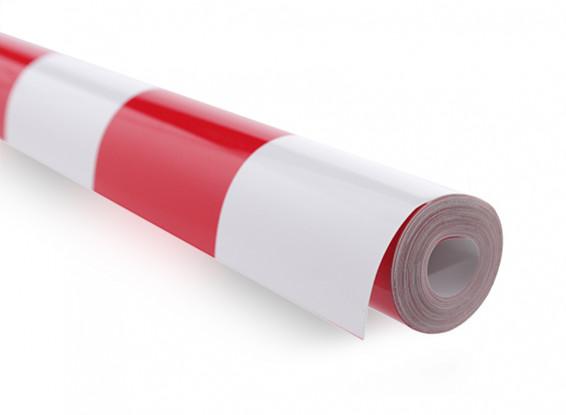 Recubrimiento de película Grill-trabajo Rojo / Blanco XL (5mtr) 405