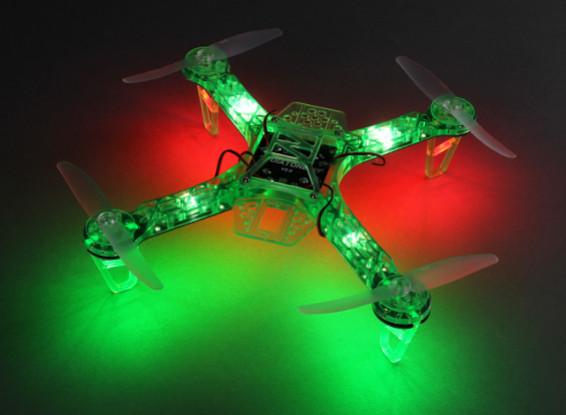 HobbyKing FPV250 V4 verde fantasma Noche Edición LED folleto FPV aviones no tripulados (verde) (Kit)