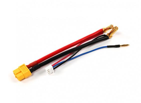 XT60 enchufe del arnés de Hardcase 2S Lipo con conector Bullet 5 mm y JST-XH (1 unidad)