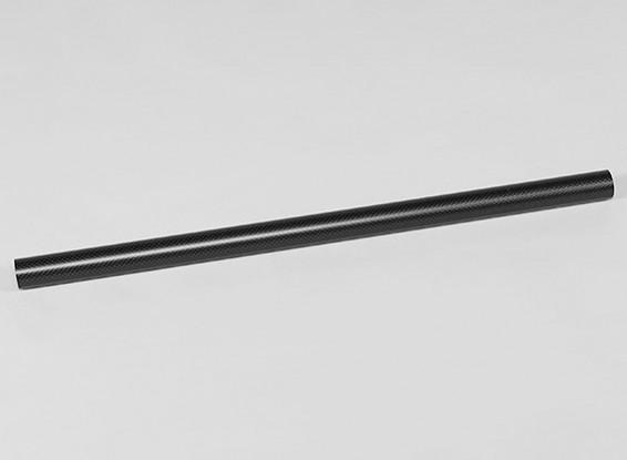 La fibra de carbono del tubo redondo 500x25x23mm