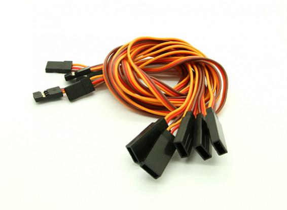 40cm JR 26 AWG cable de prolongación recta L a V 5pcs