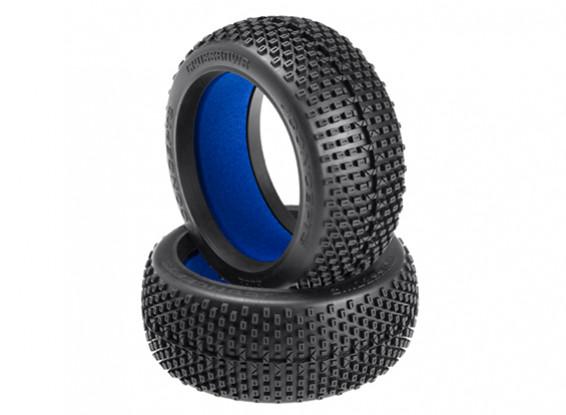 JConcepts Ballestas 1 / 8th Neumáticos Buggy - Verde (Super Soft) Compuesto