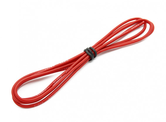 Turnigy alta calidad de silicona 20AWG Wire 1m (rojo)