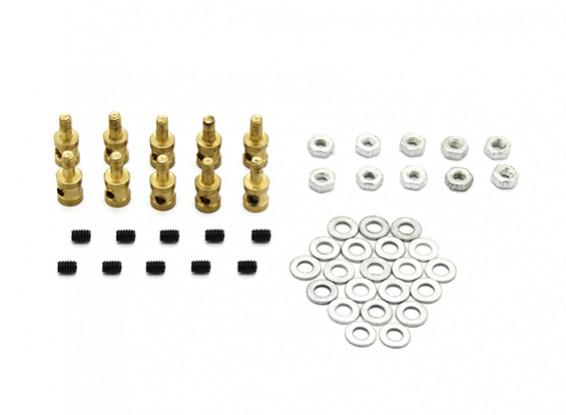 Vinculación de latón tapón para 1.2mm varillas de empuje (10 piezas)