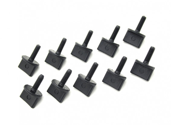 Tornillos de nailon en M4 x 12mm Negro (10pc)