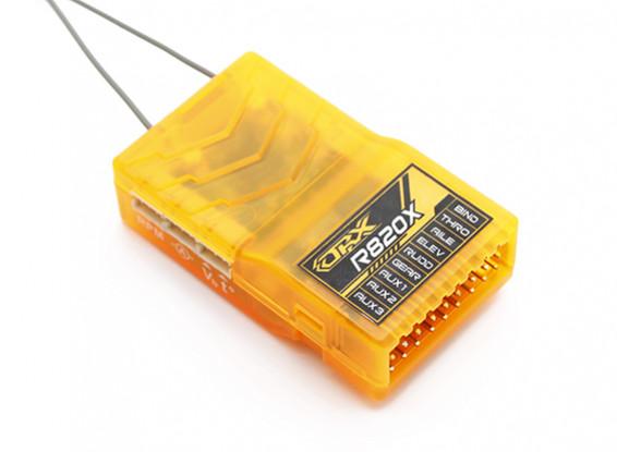 OrangeRx R820X 8Ch 2,4 GHz DSM2 / DSMX CompFullRangeRX w / SatDivAnt, M / S & S.Bus