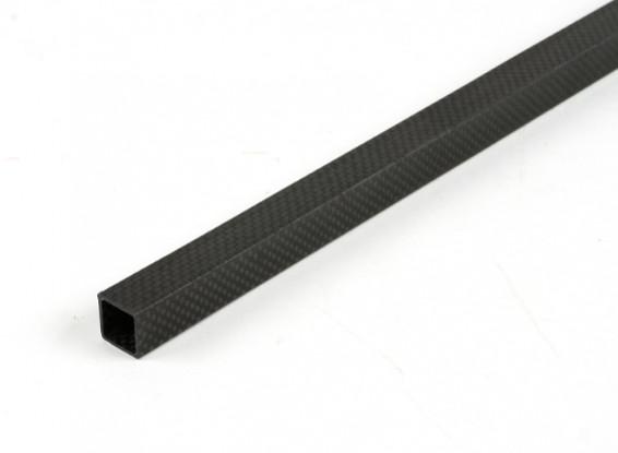 Tubo cuadrado de la fibra de carbono de 15 x 15 x 500 mm