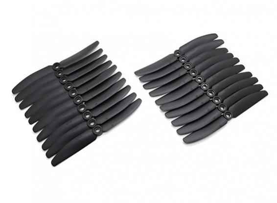 Gemfan 5030 Multirotor ABS Propulsores Bulk Pack (10 pares) CW CCW (Negro)
