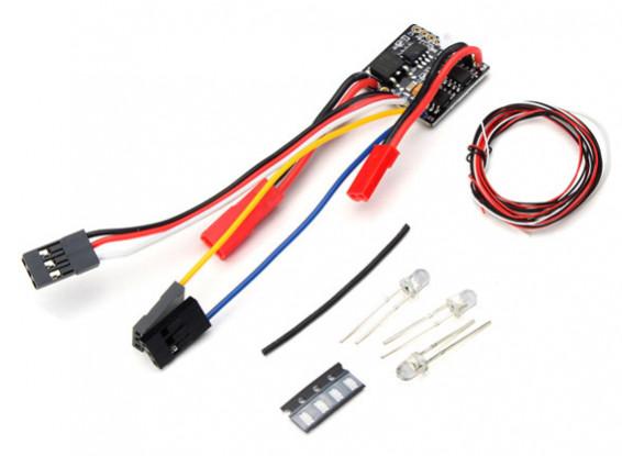 2 en 1 2S Lipo ESC w / LED Light Set - Kit OH35P01 1/35 Rock Crawler
