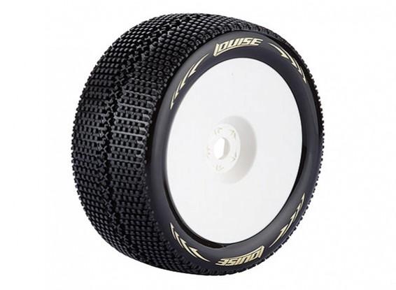 Louise T-TURBO Neumáticos 1/8 Escala Truggy compuesto súper blando / 1/2 del desplazamiento / del borde blanco / Montado
